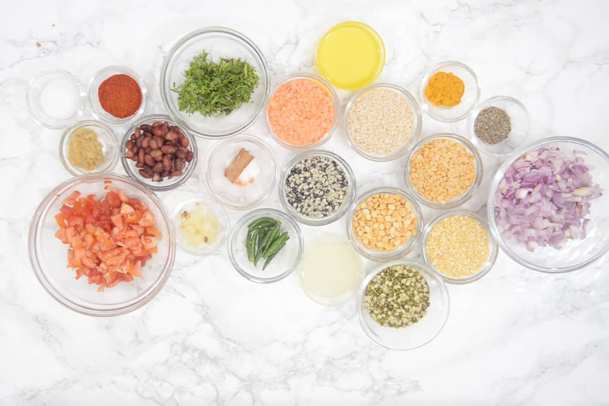 Navratan Dal Ingredients