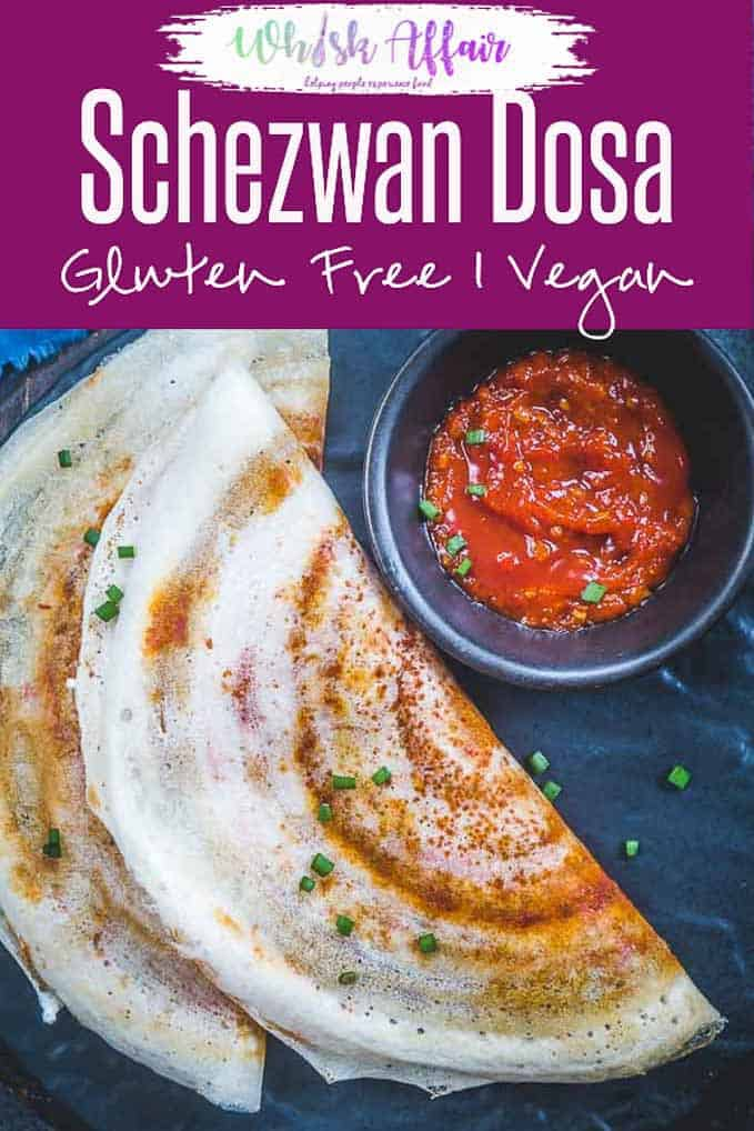 Indo Chinese Schezwan Dosa Recipe is a delicious blend of two different cuisines and the end result is nothing less than lip smacking. Indo Chinese I Chinese I Schezwan I Snacks I Indian I Street Food I Easy I Simple I Quick I Top I Perfect I Food I Recipe I