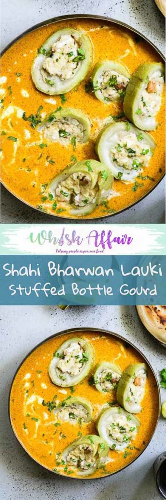 Made by stuffing lauki with dry fruits, khoya, paneer, masalas, Shahi Bharwa Lauki mind you, also has a finely rich gravy that would grow on you. #IndianRecipes #BottleGourdRecipes #CurryRecipes