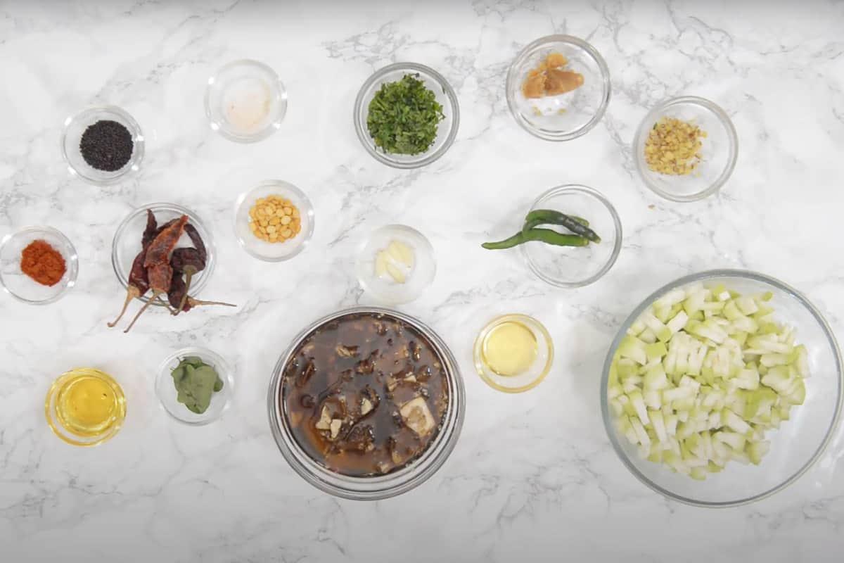 Sorakaya Pachadi Ingredients.