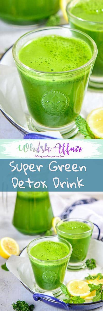 Packed with all the vital nutrients derived from fresh green and a dash of lemon juice, Super Green Detox Drink is indeed a magical drink! #Healthy #Drink #Detox