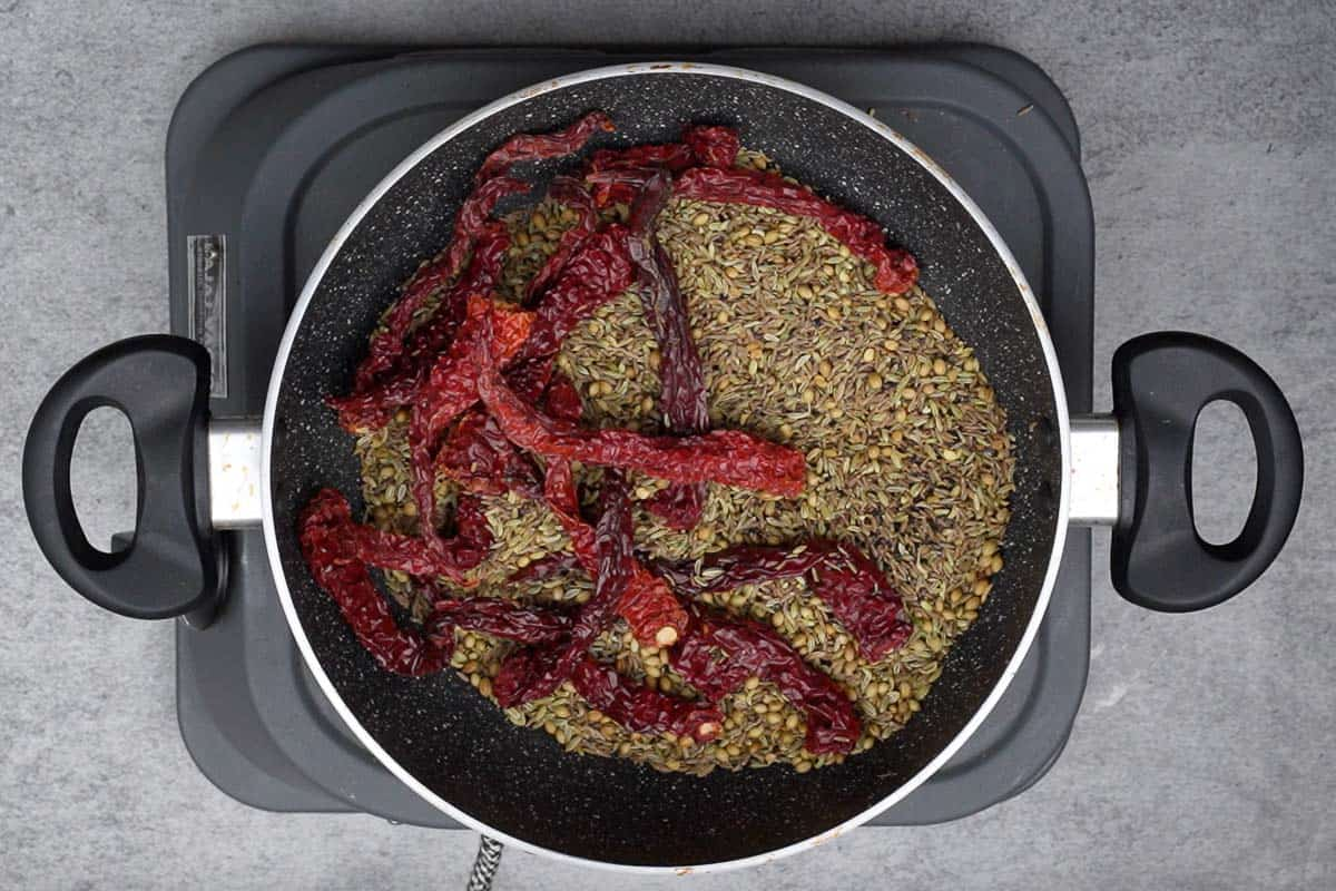 Roasted spices.
