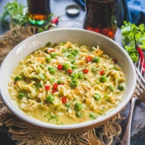 Cheese Maggi is a delicious twist to your ultimate comfort food Masala Maggi where cheese and green chilli are added to make it super cheesy and spicy. Cuddle under a warm blanket and slurp on this goodness.
