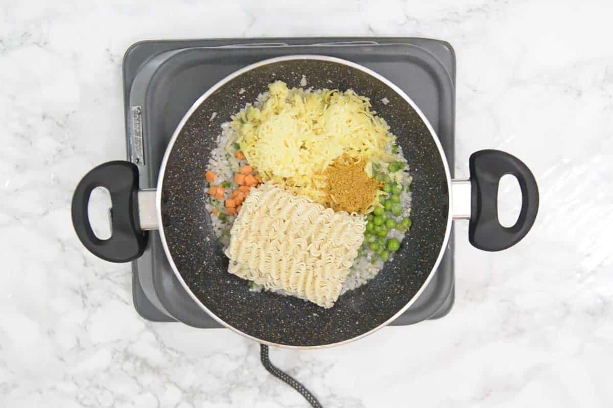 Tastemaker added in the pan.