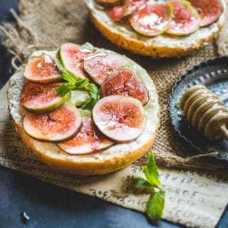 Fig Cream Cheese Bagel Sandwich Recipe