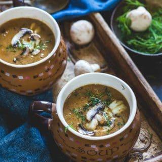 Hungarian Mushroom Soup Recipe (Video Recipe)