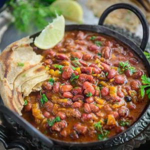 Punjabi Rajma Masala Recipe (Red Kidney Beans Curry) is a much loved curry in most Indian Households and it goes very well with rice.