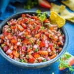 Make this best balsamic strawberry salsa and pair it with chips or nachos for a quick and easy to make snack. This recipe is perfect when your are entertaining.
