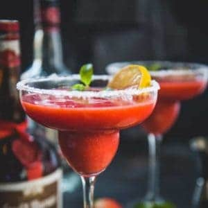 Shaken up fresh with frozen strawberries, tequila, lemon juice, Grand Marnier, Frozen Strawberry Margarita is the most versatile cocktail to try this season!