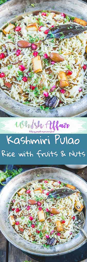 Kashmiri Pulao Recipe I How to make Kashmiri Pulao is a delicious rice preparation where rice is cooked in milk and is loaded with dry fruits and fruits. #Rice #Recipes #Indian