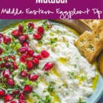 Mutabal is a smoky Middle Eastern dip made with eggplant. This is a beautiful, creamy dip and is a wonderful way to use brinjal or eggplant, a vegetable that not many people like. Here is a step by step recipe to make it at home. #Dip #Recipes #Middleeastern