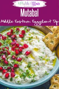 Mutabalis a smoky Middle Eastern dip made with eggplant. This is a beautiful, creamy dip and is a wonderful way to use brinjal or eggplant, a vegetable that not many people like. Here is a step by step recipe to make it at home. #Dip #Recipes #Middleeastern