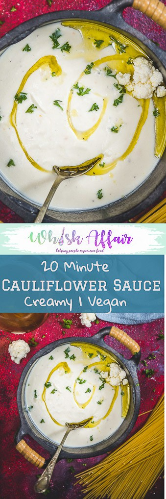 A creamier yet healthier alternative to the usual white sauce, this Vegan Cauliflower Cheese Sauce lets you devour your comfort food like steaks, macaroni and more with a comparatively lesser guilt! Plus it's super quick and easy to make too. Here is how to make Cauliflower Cheese Sauce. #Cauliflower #Sauce #Recipes