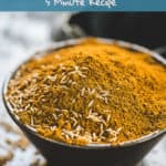 Cumin Powder or ground cumin (also known as Jeera Powder) is made by powdering dry roasted cumin seeds in a grinder. This homemade powder might appear ordinary but it has the magical powers to completely change the taste of a drink or a dish. Here is how to make Cumin powder at home. #Cumin #Powder #Spice #Mix #Homemade #Indian