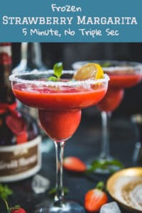 Shaken up fresh with frozen strawberries, tequila, lemon juice, Grand Marnier, lime juice, honey, ice, Frozen Strawberry Margarita is the most versatile and rejuvenating cocktail to try this season! And oh, you don't need triple sec for this recipe. Here is Chili's copycat Frozen margarita Recipe. #Frozen #Cocktail #Strawberry #Recipe #Margarita