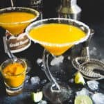 Summer is officially the season of Mangoes. So, keep your guard down and get ready to get high on this light, sunny Mango Martini. Mind you, it has a shot of fresh ripe mango juice, vodka and lime juice. Go ahead then and bring out the martini shaker and make it soon, fellas? Here is how to make MangoMartini.
