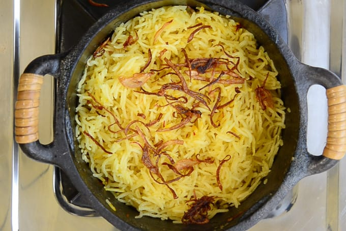 Caramelised onion added in the pan.