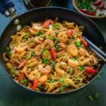 Shrimp Chow Mein is a no pain, no fuss, easy one pot meal that gets ready under 30 minutes.