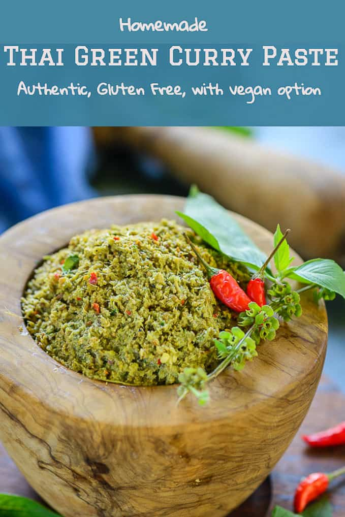 Thai Green Curry Paste is a tangy, spicy sweet paste native to the region, that is added to a variety of curry's and gravy dishes. #Authentic #Best #Thai #Paste #Homemade #Green #Curry