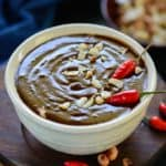 Easy, authentic, vegan, this peanut-ty, no-cook Thai Peanut Sauce is a great summer side!