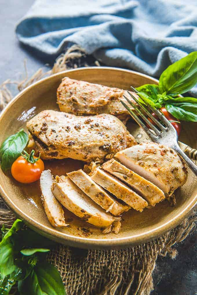 Instant Pot Chicken Breast served in a plate.