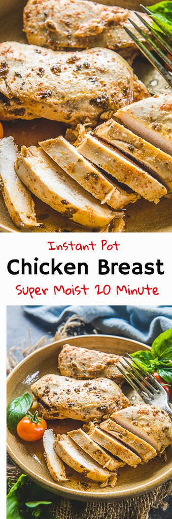 Juicy and tender chicken breasts are loved by one and all! But, do you want to make it one go? Hallelujah, because this recipe of Instant Pot Chicken Breast will help you out through and through!  Following whole 30, Paleo or Keto diets? This Chicken Recipe will surely suit you as well, guys!  #InstantPot #Chicken #Recipe