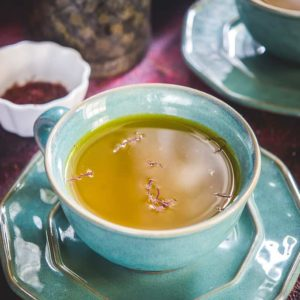 Saffron Tea is a mood lifting, refreshing beverage full of anti-depressants. All you need is hot water, saffron threads, honey and a few spices to make a cup of saffron tea. Here's how to make Tea with saffron today!