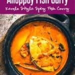 Alleppey Fish Curry is a Kerala Style spicy Fish Curry which is slightly tangy due to the use of raw mangoes or Tamarind. #Fish #Curry #Recipe