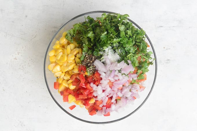 Add all the ingredients in a bowl.