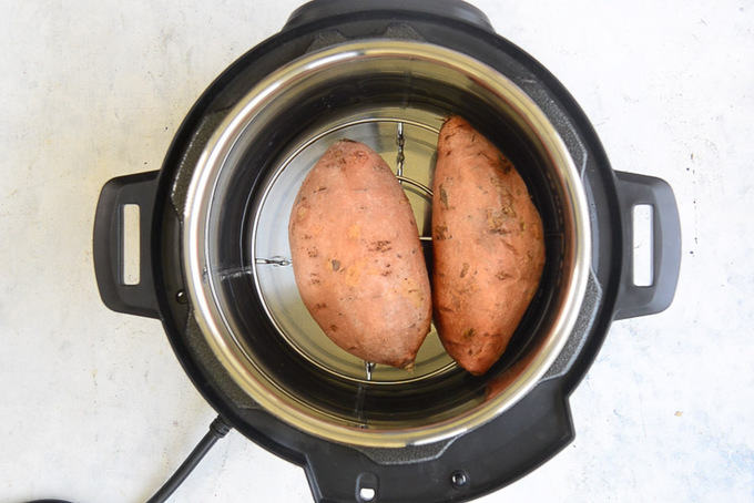 Sweet potatoes in instant pot.