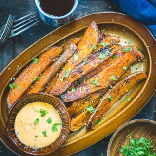 Sweet Potato Wedges served in a plate.