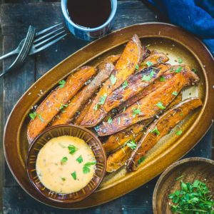 Want a healthy alternative for potato wedges? These Baked Sweet Potato Wedges are a great snack and side dish then! They get ready under 25 minutes-30 minutes.