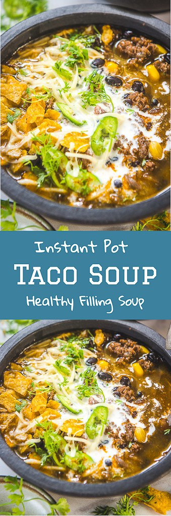 Instant Pot Taco soup #Lowcarb