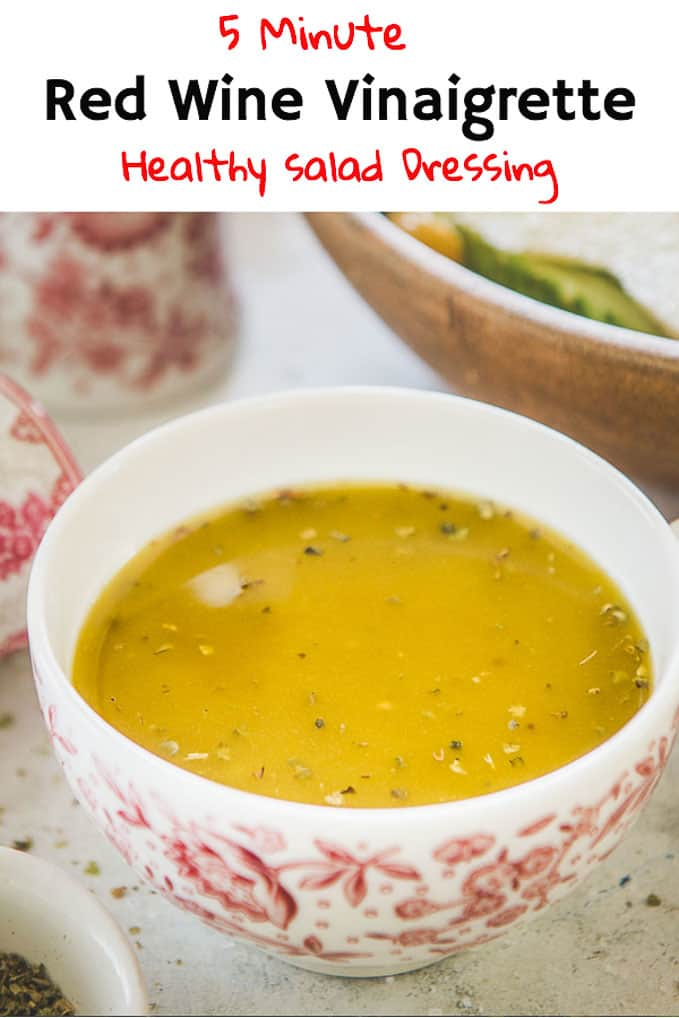 Red Wine Vinaigrette is the simplest homemade dressing you will make. It is incredibly easy to make and very tasteful. Make your own Red Wine Vinaigrette salad Dressing while the summer lasts with my recipe. #Healthy #Salad #Dressing #Wine #Vinaigrette #Summer #Recipe