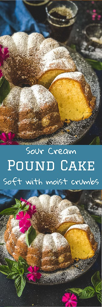 A classic Southern dessert, Sour Cream Pound Cake is light & fluffy. It's one of the best pound cakes to be turned homemade. Here's the recipe for the same! #Cake #Dessert #Pound #Best