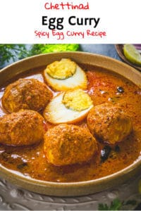 Like all Chettinad curries that I had tried, Chettinad Egg Curry tastes great! Here is a traditional recipe to make egg curry in Chettinad Style. #Egg #Curry #Chettinad #Recipe