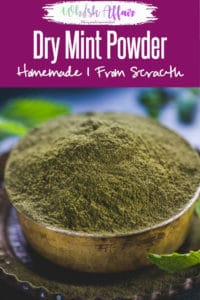 Dry Mint Powder is an aromatic and flavourful condiment that makes dishes, beverages all the more appetising. It can be easily prepared at home in go. And you can store for quite a while and use it whenever you want! Here is how to make it. #Mint #Powder #Spice #Mix #Homemade #Indian