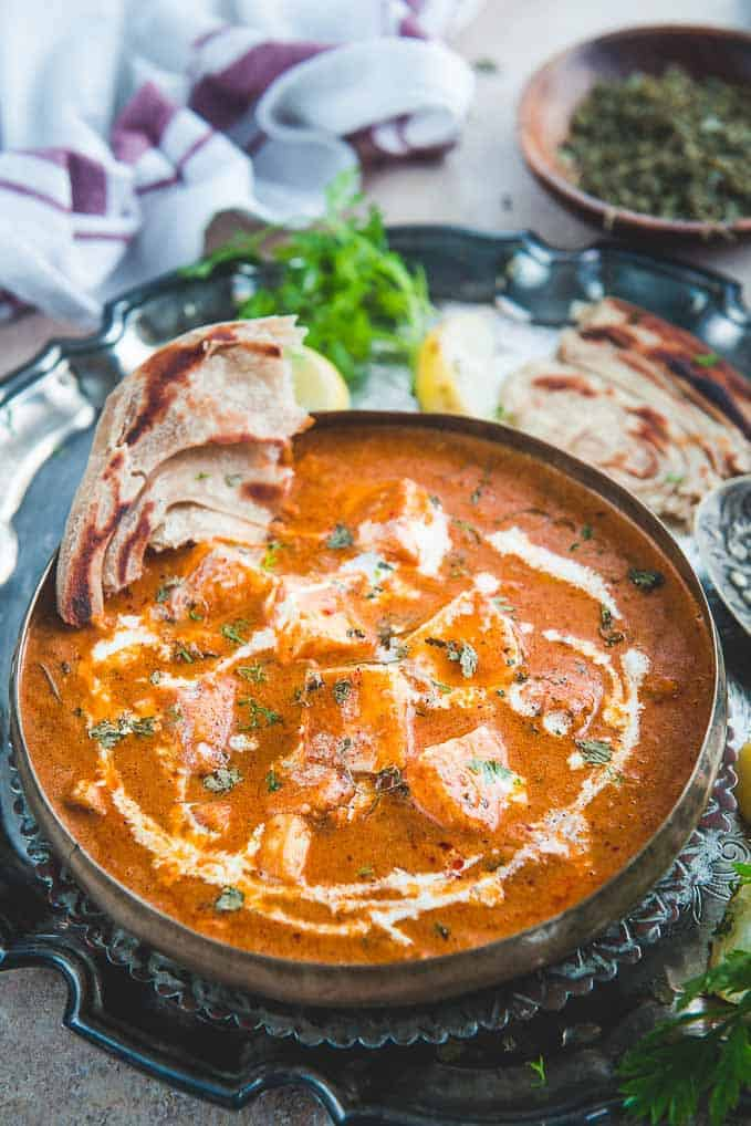 Restaurant Style Paneer Butter Masala served in a bowl.