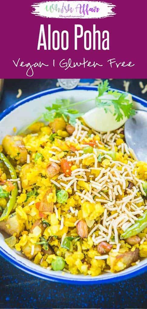 Aloo Poha or Potato Poha is a popular breakfast recipe in Madhya Pradesh and Maharashtra. Here is a tried and tested recipe to make Aloo Poha. #Indian #Breakfast #Recipes