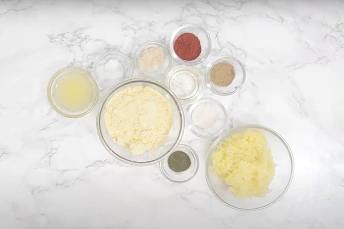 Aloo Bhujia Ingredients.