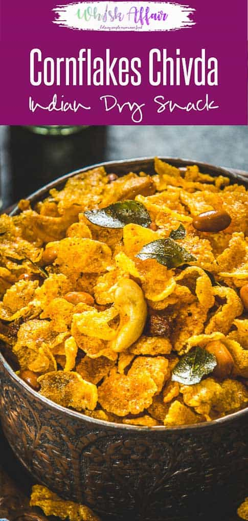 A snack with a twist, try this delicious Corn Flakes Chivda this Holi and you're going to fall in love with the crunchiness of this snack. It's a great substitute to your regular namkeen and let me warn you, this snack can get quite addictive. Here is how to make it. #Indian #Snack #Holi #Diwali #Recipes