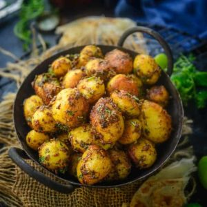 One of the easiest recipe to prepare, especially when there is a lack of time, Jeera Aloo Recipe, Aloo Jeera or Zeera Aloo Recipe is a flavourful, delicious and irresistible dish of baby potatoes and cumin seeds.