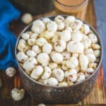 Roasted Makhana is an instant snack that you may eat whenever you like. Phool Makhana, Fox Nuts or Lotus Seeds are loaded with nutrients and are a good source of protein, calcium, and iron. Here is how to make these at home.