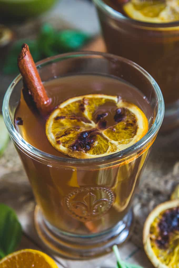 Close up shot of apple cider.