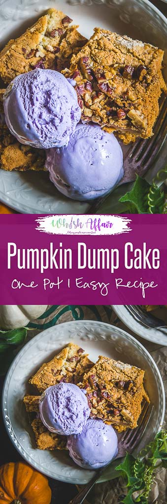 Searching for that perfect fall dessert recipe? Then my Recipe for Pumpkin Dump Cake is apt for you. Do read it and try it soon this season! #Pumpkin #Dessert #Easy #Recipe #Cake