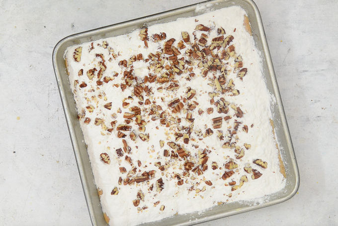 Pecans sprinkled on top.