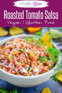 This Roasted Fresh Tomato Salsa is full of robust flavours and I have got you covered with this perfect recipe to make it. Wonderfully smoky, crunchy and tangy, this salsa is absolutely addicting. Here is how to make it. #Salsa #Appetizer #Dip #Recipes