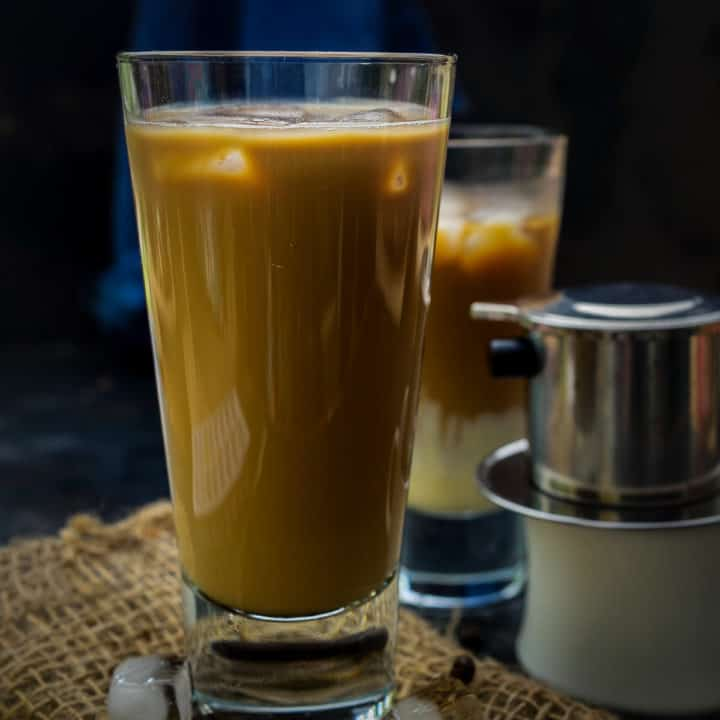 Vietnamese Iced Coffee is a very strong coffee that is served with condensed milk. This intensely brewed concentrate is creamy, rich, smooth in texture, and has a bold flavor. Here is how to make this coffee recipe with and without using the Vietnamese coffee filter.