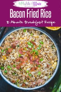Loaded with bacon and eggs, Breakfast Bacon Fried Rice Recipe turns out to be an interesting combination which you can savour any time of the day! Bacon I Rice I Easy I Simple I Perfect I Best I Delicious I Brekkie #Breakfast #Rice #Recipe