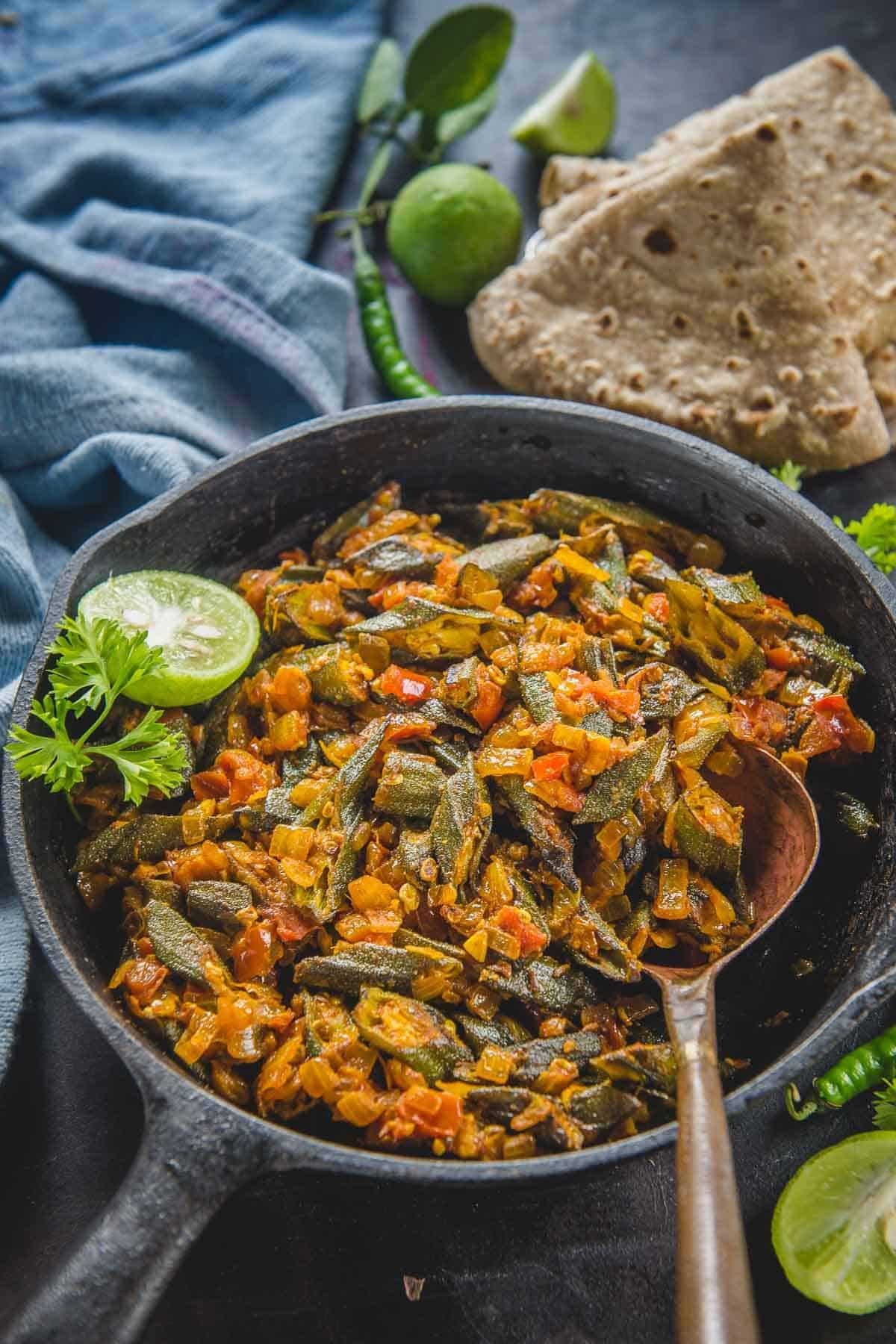 Bhindi Masala Recipe Step By Step Video Punjabi Style Whiskaffair